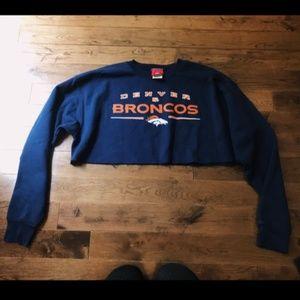 Sweaters - Denver Broncos Cropped Crewneck